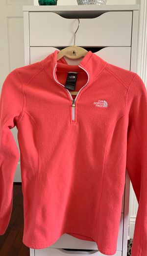 Women's The North Face hot pink zip up pullover jacket for Sale in Spring Hill, FL