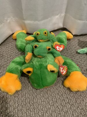 "Ty beanie baby trio ""smoothie"" the frog for Sale in Menifee, CA"