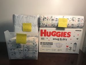 Huggies Snug & Dry Size 3 - 142 diapers NOT in box 📦 for Sale in Lantana, FL