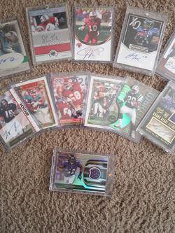 12 Card Lot( 7 Autos+ Ray Lewis Jersey Card) for Sale in Brandon,  FL