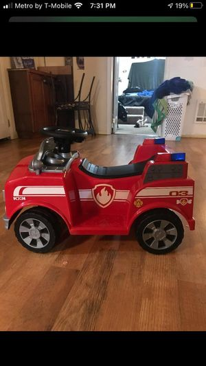 Paw Patrol 12 volt fire truck for Sale in Amity, OR