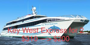 Key West Express Round Trip Pass for 2 People for Sale in Estero, FL
