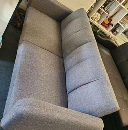 Brand New Grey Linen Futon Sofa Bed for Sale in Silver Spring,  MD