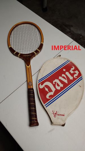 TAD Davis Wooden Imperial Tennis Rackets W/ Covers for Sale in Loxahatchee, FL
