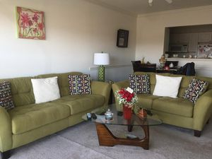 Sofa, love seat, coffee table, and two lamp tables. for Sale in Springfield, VA