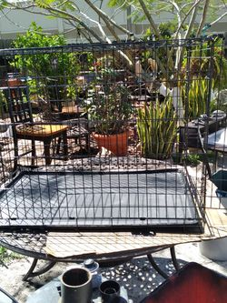 """Metal Folding Dog Cage ,sizes ,42"""" L X28""""W , X30"""" H. for Sale in Orlando,  FL"""