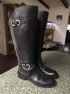 Black Leather Boots Women Size 6 for Sale in Falls Church, VA