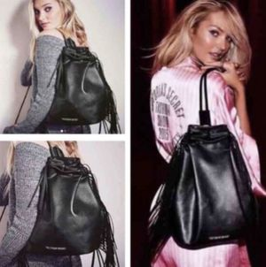 Victoria Secrets Black fringe Backpack for Sale in Concord, NC