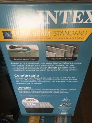 Large Inflatable bed no pump needed for Sale in Houston, TX