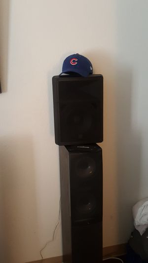 Two v's DJ speakers for Sale in Albuquerque, NM