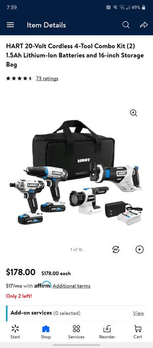Hart cordless power tools for Sale in Marianna, FL