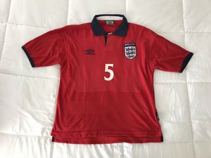 England Umbro Jersey Men Vintage 90s Soccer Jersey 1999-2001 Away Kit- Merson. Excellent Condition. Adult xs/s for Sale in Washington, DC