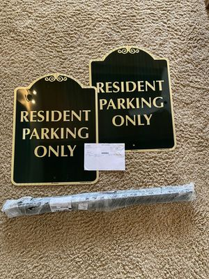 MyParkingSign Resident Parking Only Signs - 2 for Sale in Solana Beach, CA