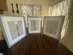 Farmhouse framed pictures / dining room decor for Sale in San Diego, CA