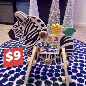 3 Piece wooden zebra Activity Center for Sale in Gilbert, AZ