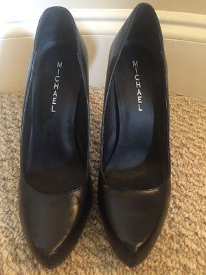 MICHAEL black leather career pumps! for Sale in Atlanta, GA