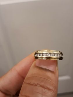 Men's Wedding Band 10k Real Gold 1ct Diamonds for Sale in Los Angeles,  CA