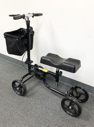 (NEW) $95 Steerable Knee Walker Scooter w/ Basket Rolling Wheel Handlebar Max Weight: 300lbs for Sale in South El Monte, CA
