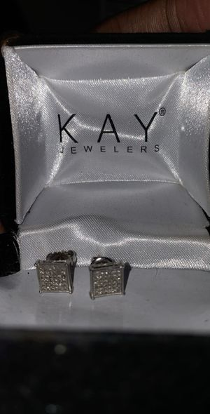 Pair of 14K Diamond Earrings for Sale in Brooklyn, NY