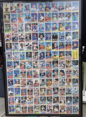 Framed uncut baseball cards for Sale in Huntington Beach, CA