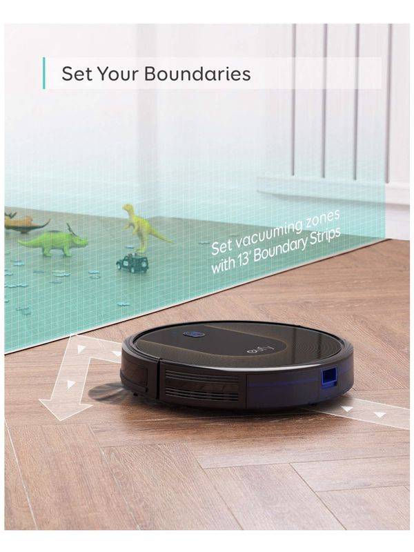 eufy by Anker, BoostIQ RoboVac 30C, Robot Vacuum Cleaner, Wi-Fi, Super-Thin, 1500Pa Suction, Boundary Strips Included, Quiet, Self-Charging Robotic V