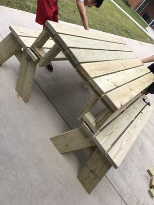 Interchangeable Picnic Table/ Bench for Sale in Houston, TX