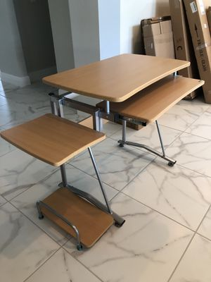 Computer Desk with Keyboard Tray, Printer And Computer Stand for Sale in Zephyrhills, FL