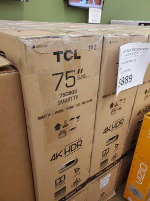 "TCL 75"" 4K UHD Roku TV for Sale in La Habra, CA"