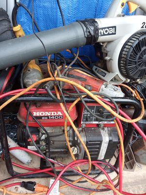 Generator,weed whacker,impact drill, grinder,leaf blower,deep freezer and flagging stop sign etc . for Sale in Wilmington, DE