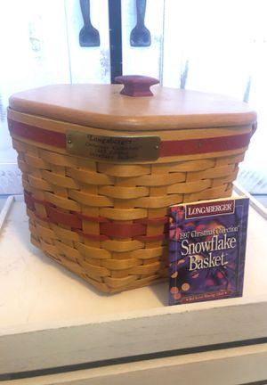 Longaberger 1997 Christmas Snowflake Basket for Sale in San Tan Valley, AZ