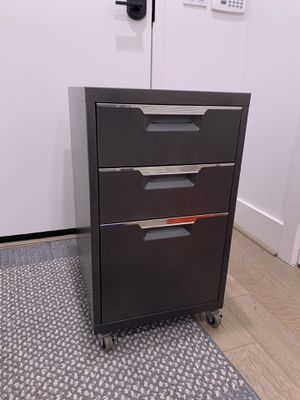 CB2 TPS CARBON GREY 3-DRAWER FILING CABINET for Sale in Los Angeles, CA