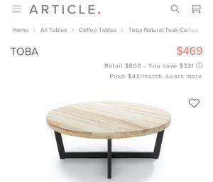 Article Furniture coffee table for Sale in Ontario, CA