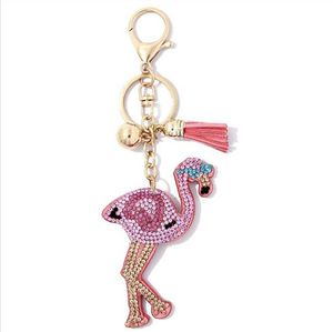 Flamingo with Puffy Tassel Key Chain / Poodle Puffy Tassel Key Chain / Purse Charm for Sale in Upland, CA