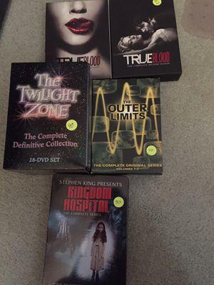 Twilight zone, true blood season 1&2, outer limits, Stephen king kingdom hospital dvd sets for Sale in Pembroke Pines, FL