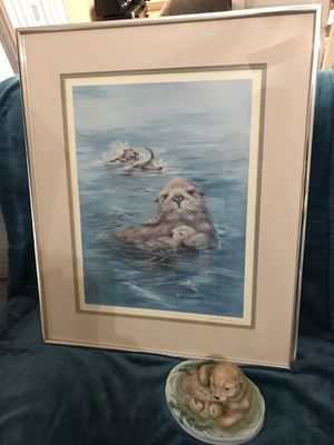 """Sea Otters At Play"" Lithograph and Porcelain Statue for Sale in Gilbert, AZ"