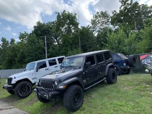 Jeep Wrangler JK and JL and gladiator lift kit wheel tire packages in stock for Sale in Rockdale, IL