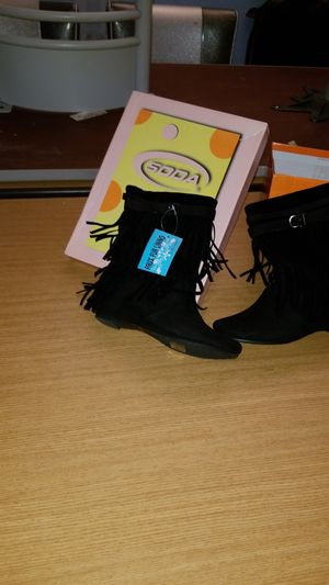Soda fringe boots for Sale in Albuquerque, NM