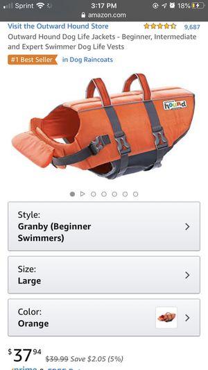 Large dog life jacket for Sale in Savannah, GA