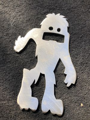 Stainless steel artist made Sasquatch bottle opener Bigfoot for Sale in Seattle, WA