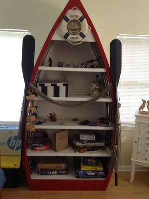 Decorative boat, shelf cabinet for Sale in Vermilion, OH