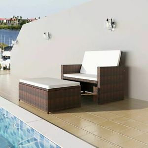 Garden Sofa Set Poly Rattan Wicker Brown Home Furniture for Sale in Los Angeles, CA