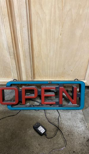 Light Up Open Sign for Sale in Sacramento, CA