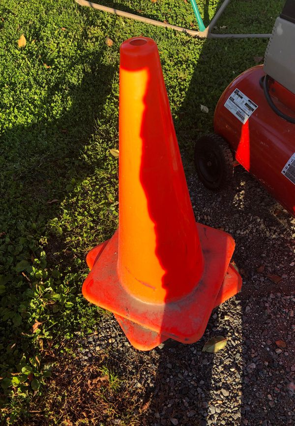 Two construction cones