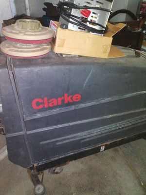 Clark X vision 21 floor scrubber and buffer with charger and buffer pads for Sale in Bexley, OH