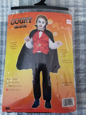 Count child costume. Size L (12-14) for Sale in St. Louis, MO