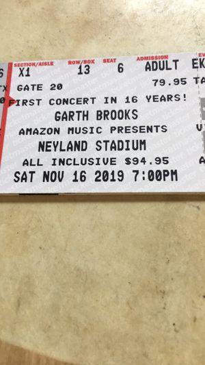 2 Garth Brooks tickets at Neyland Stadium for November 16 for Sale in Flintstone, GA