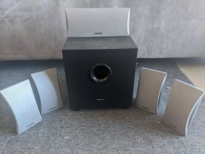 Onkyo Surround Sound Speakers and Pioneer Subwoofer for Sale in San Diego, CA