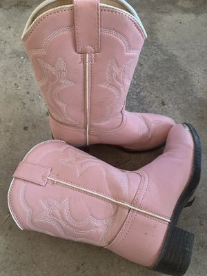 girls size 1 Pink Durango Cowgirl boots for Sale in Leesburg, VA