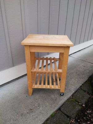 Solid Wood Butcher Block Kitchen table 20 24 35in for Sale in Tacoma, WA