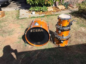 Tama starclassic 4 pc drum set Gibraltar rack for Sale in San Diego, CA